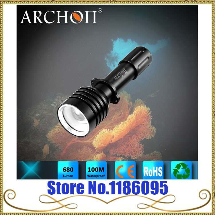 ФОТО Wholesale Free Shipping ARCHON D10U  W16U CREE XM-L U2 LED 860 Lumens  Diving Flashlight zoomable Diving underwater