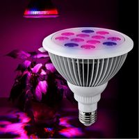 36W PAR38 LED grow light E27 bulb AC85 265V 12pcs 3watts leds, red 650 660nm blue 450 460nm for all phases of plant growth