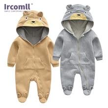 Ircomll Unisex kids Cute Bear Hooded Long Sleeve Cotton