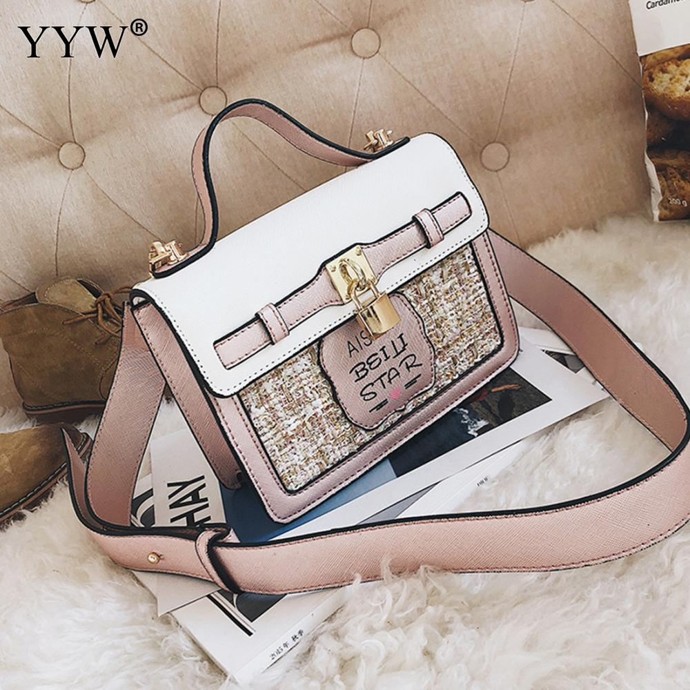 ed0bf215730 YYW Unique Pu Leather One Wild Soild Strap Women Shoulder Handbag Contrast  Color Crossbody Bags Evening Shopping Bags For Girl-in Top-Handle Bags from  ...