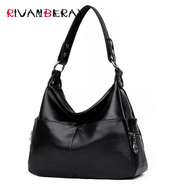 حقائب يد نسائية فاخرة من الجلد الناعم عالية الجودة بتصميم ساعي البريد على الموضة الشهيرة للنساء