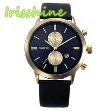 Irissshine #0093 Man watches 5 colors Fashion Men Casual Waterproof Date Leather Military Japan Watch Gift New Arrival wholesale