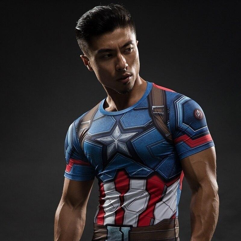 camisas de compressão roupas de super-herói ginásio