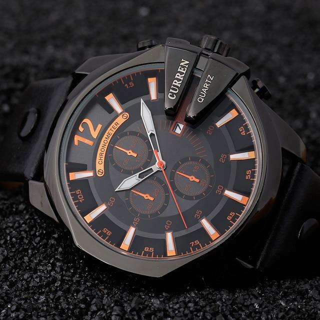 e0f487bcbac Relogio masculino CURREN 2017 Homens Relógios Top Marca de Luxo Popular  Relógio Homem De Quartzo Relógios
