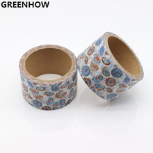 GREENHOW High Quality Dandelion Flower Washi Paper Masking Tapes Scrapbooking Floral Tape Gift Wrapping Sticker 9004