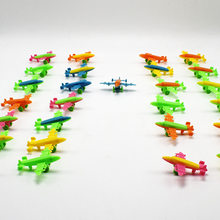 Mini plastic toy wheels can slide model fighter bomber model spaceship ship Children's gift toys 10pcs Free shipping(China)