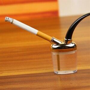 Image 1 - شيشة صغيرة أنبوب تدخين صغير شيشة صغيرة حامل سيجارة على الموضة أنابيب تدخين على الطراز