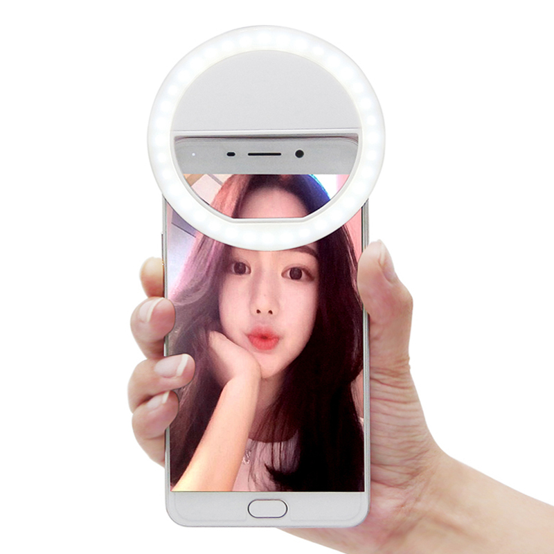 Portable 36 Led Selfie Ring Light para teléfono inteligente iPhone iPad Samsung Galaxy HTC LG Smartphone