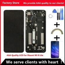 2280*1080 AAA качественный ЖК-дисплей для Xiaomi Mi 8 Lite ЖК-дисплей с рамкой для Xiaomi Mi 8 Lite Youth 8X ЖК-экран