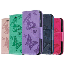 2019 Butterfly Flip Case For Iphone 8 7 6 6s Plus Cover Wallet PU Leather Bag For Coque Iphone 11 pro max Case Cell Phone Book цена 2017