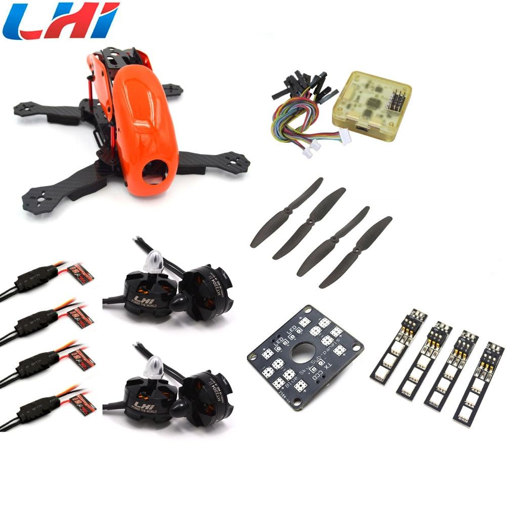 Robocat 4-Axis Carbon Fiber Quadcopter Frame CC3D LHI 2204 Motor 12A ESC props ~RC01 Orange qav250 carbon quadcopter mt2204 2300kv motor simonk 12a esc cc3d fc 5045 props