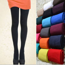 1 Pair 5 Solid Colors Women Lady Sexy Footed Thick Opaque Pantyhose Slim Stretch Pants120 Denier Long Tights Soft(China)
