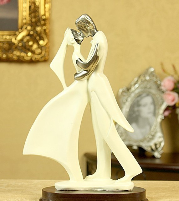 Kissing Men And Women Resin Furnishing Articles Creative Wedding Gifts Crafts Fb305