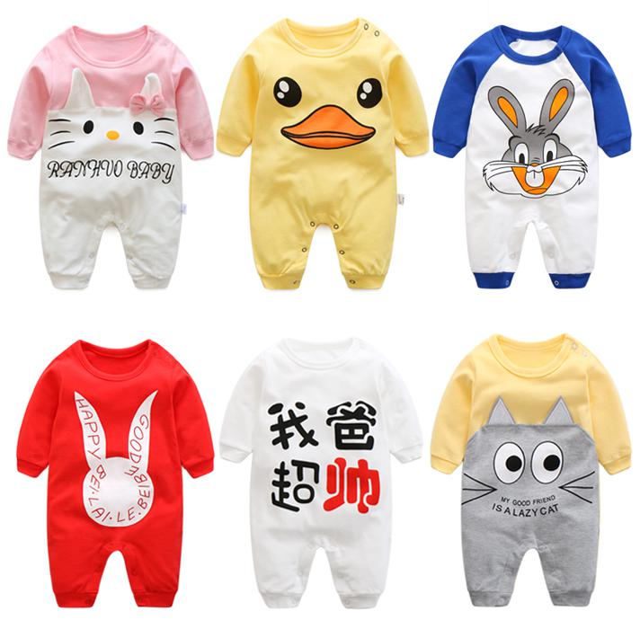 2017 long sleeve baby rompers cartoon baby girl clothes infant boys clothing Newborn Baby Boy Clothes 0-24 Brands Baby Clothes newborn baby girl rompers cute cartoon animal print clothes cotton long sleeve clothing set infant costumes baby boys clothes