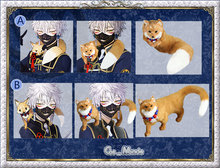 Hot Animal Cosplay Prop Touken Ranbu Online Nakigitsune Fox Doll as present