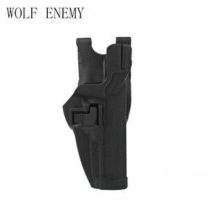 Тактический Serpa сокрытие быстро правая рука пистолет кобура BK w/куртка слот обязанность ремень петля для 92 96 M9 M92