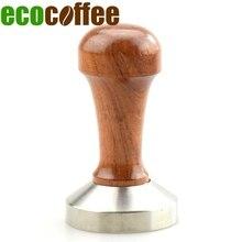 Ausgestattete Metall Umweltfreundliche Edelstahl Kaffee Tamper 49/51/53/57/58mm Brista Espresso Basis pulver Presse Flachen Kaffee Hammer
