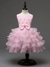 Fashion rhinestone lace pageant formal wear birthday party infant wedding dress
