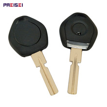 Car Transponder Chip Key Shell For BMW Fob Replacements With LED Light