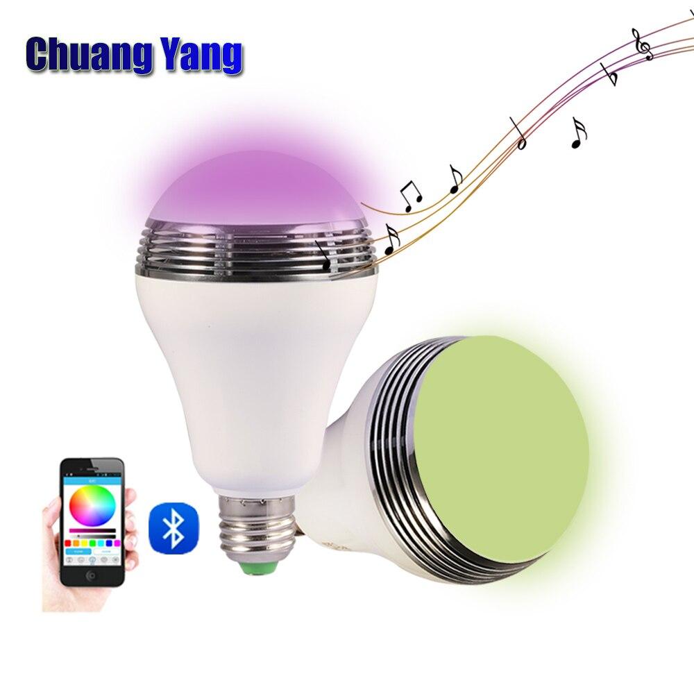 E27 220 v 110 v 12 w Sans Fil Intelligent RGB Bluetooth 4.0 Audio Haut-Parleur Mobile Smart LED ampoule Lumière APP contrôlée Musique Audio Lampes