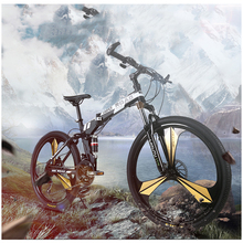 Dağ Bisikleti Bisiklet Arabası Tek Tekerlek Katlanır Dağ bisikleti 26 inç 21/24/27 Hız Çift disk bisiklet