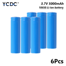 18650 Battery 5000mAh 3.7V Rechargeable Cell For electronic cigarette Rechargeable battery power high discharge mbr cell power neck