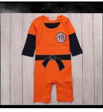 8870c456540ef Dragon Ball Goku Baby Costume Newborn Infant Boy Clothes Romper Jumpsuit  cosplay costume outfit babysuit
