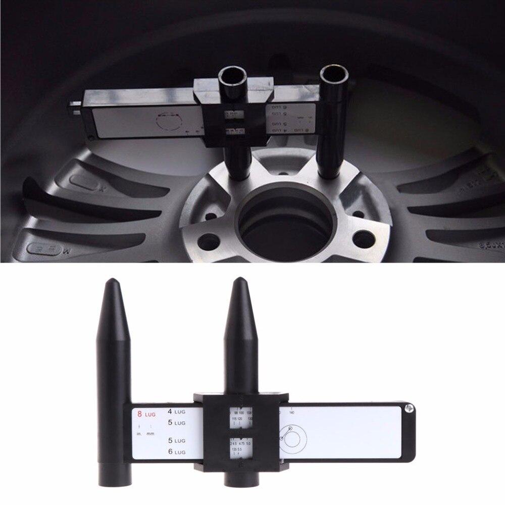 4 5 6 8 Löcher Lug Radschraube Muster Gauge Schnelle Messung Messung Handwerkzeug Mangelware
