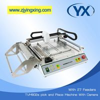 SMD Pick and Place Machine TVM802A For Electronic Components With 27 SMT Stick Feeders SMT Chip Mounter