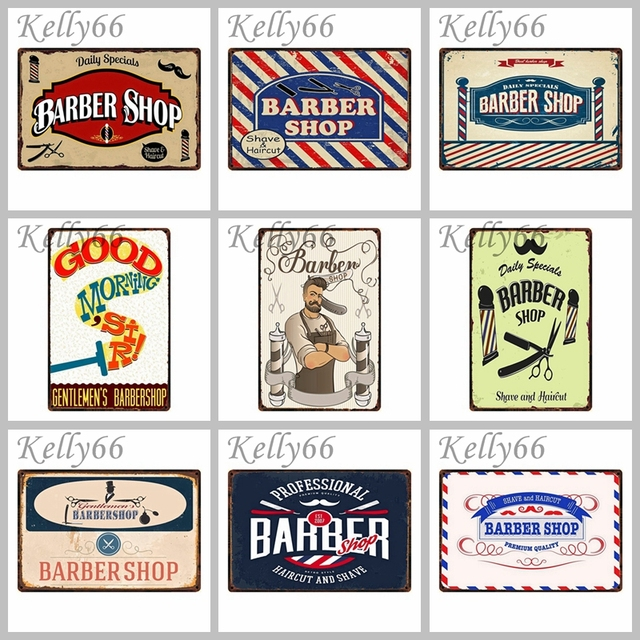 Barber Shop Metal Sign Poster Home Bar Wall Plaque Iron Painting 2030 Cm Size Dy3