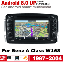 HD IPS DSP Stereo Android 8.0 up Car DVD GPS Navi Map For Mercedes Benz A Class W16 1997~2004 NTG 2 DIN multimedia player radio цена