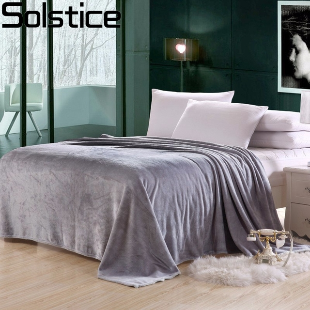 Solstlce Hot Sale Home Bedding Set Fleece Blanket Warm Soft And Comfortable  Travel Flannel Blanket Sofa