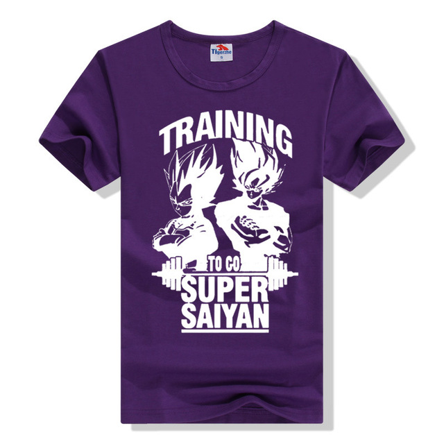 2016 Go Super Saiyan Design Men's T shirt Dragon Ball Goku Z Vegeta Printed Tees Anime Tops 12 Colors