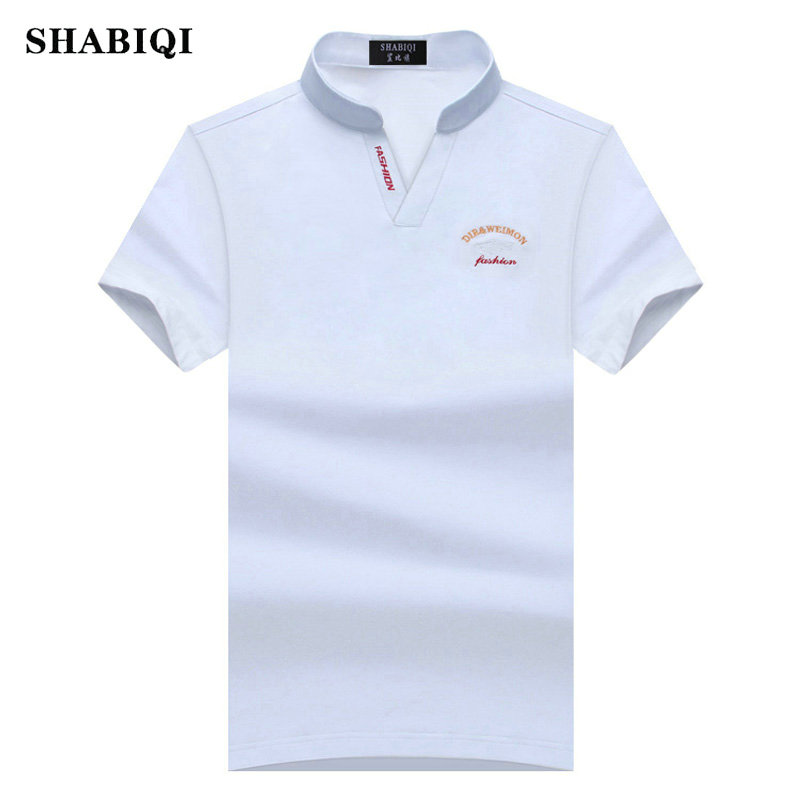 SHABIQI Mens   Polo   Shirt Slim Fit Casual Solid   Polo   Shirts Brand Clothing Short Sleeve Logo   Polo   Wear Plus Size S-8XL