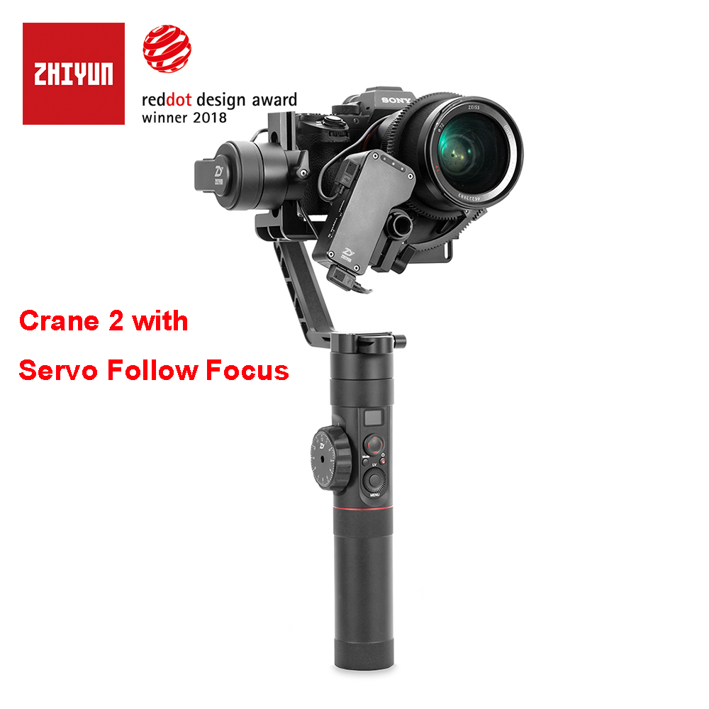 Zhiyun Crane 2 3-Axis Camera Stabilizer with Servo Follow Focus for All Models of DSLR Mirrorless Camera Canon 5D2/5D3/5D4 1pc stable electric rs550 motor 6v 24v 10 teeth gear for cordless charge drill screwdriver