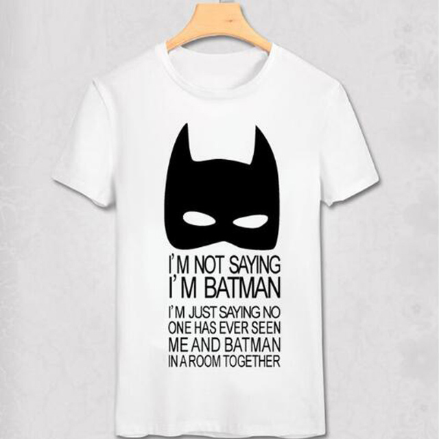 Batman T Shirts Fashion Personalized Custom Tshirts batman costume Summer  men T-shirt batmen Funny top tee superhero cool shirt