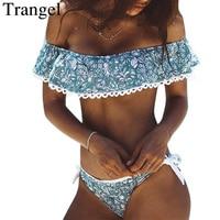Trangel 2018 Swimwear Women Bikini Push Up Swimsuit Brazilian Bikini Bandeau Ruffled Bathing Suit Maillot De