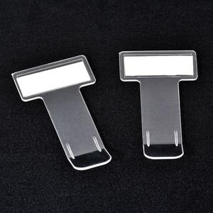 1/2/4/5 PCS Auto Ticket Folder T-shape Transparent Ticket Car Folder Holder Document Display Clip Parking Phone Number Display(China)