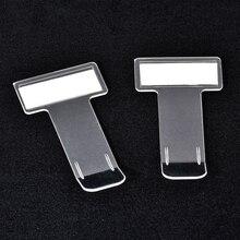 Clipe transparente para exibição do bilhete de carro, pasta da pasta do carro em formato de t, 1/4/5 peças número do telefone do estacionamento