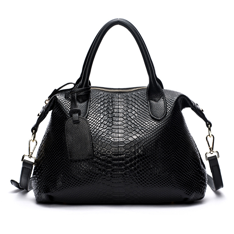 100% Genuine Leather Women handbag Alligator Original Designer Vintage Cow Leather Shoulder Bags Ladies Crossbody Messenger Bag vintage designer 100