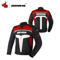 BENKIA Motorcycle Jcaket Men Racing Clothes Summer Mesh Moto Jacket Breathable Motorcycle Clothing Drop Resistance Clothing