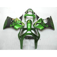 Литья под давлением Обтекатели для Kawasaki ZX 6R 2000 2001 2002 цвета: зеленый, черный комплект обтекателей ниндзя 636 ZX6R 00 02 Aftermarket yq25