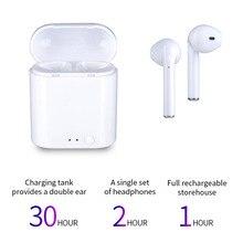 I7-mini TWS Fones de Ouvido Sem Fio Mini fone de Ouvido Bluetooth fone de Ouvido Baixo de carga Magnética para apple xiaomi auriculares fone de ouvido