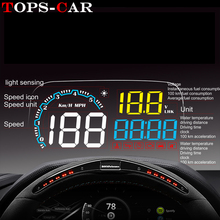 GEYIREN New Arrival Mirror HUD C600 Car Head up display Windshield Speed Projector Security Alarm Overspeed RPM Voltage