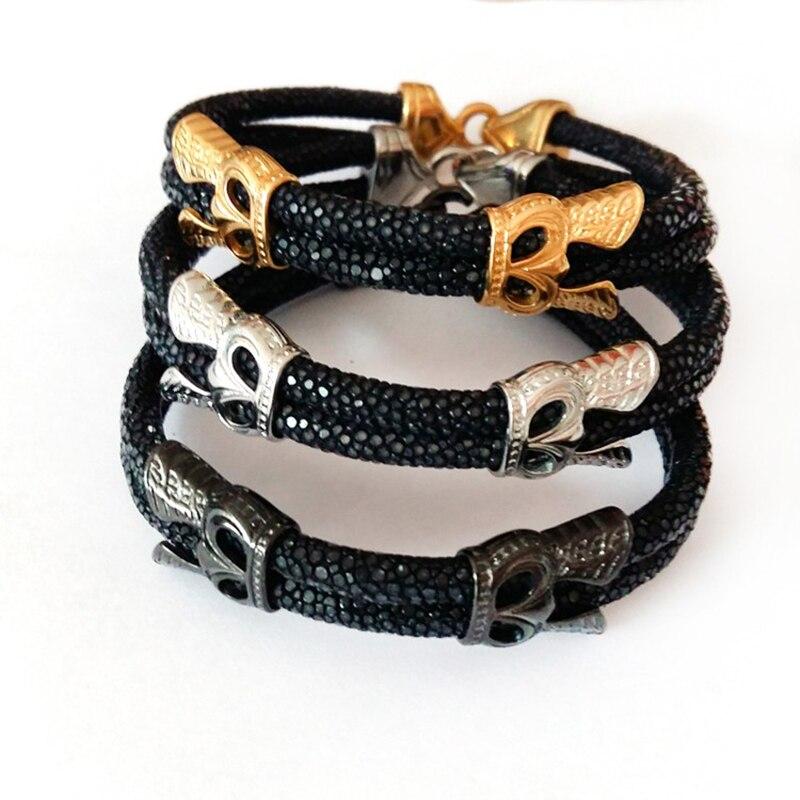 10 pièces BC bracelet en cuir véritable mode haut de gamme montre accessoires luxe thaïlande cuir stingray bracelet pour watchBrand