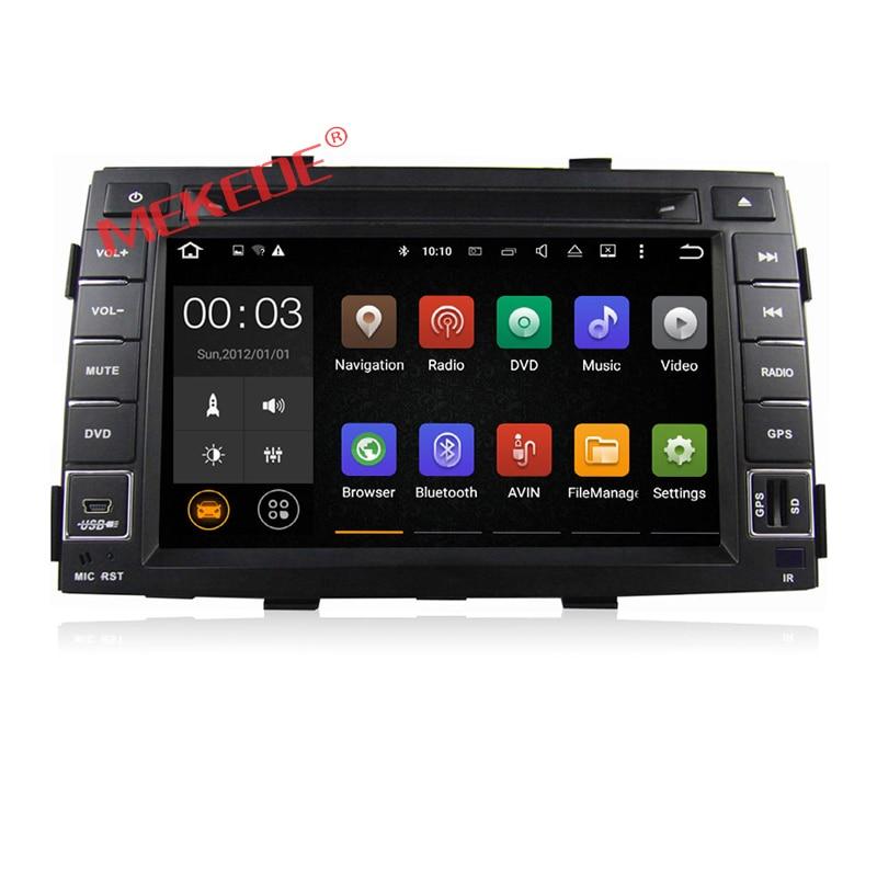Quad-core Android7.1 HD 1024*600 2 GRAM reprodutor multimídia Carro rádio cassete para KIA Sorento 2010 2011 2012 dvd gps ipod bt áudio
