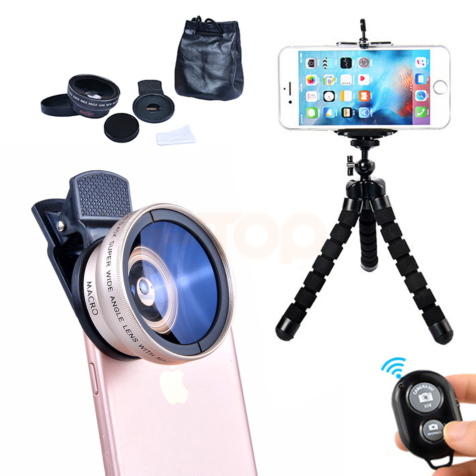 Universal Clips Mobile Phone Lentes Camera Lens Kit 0.45X