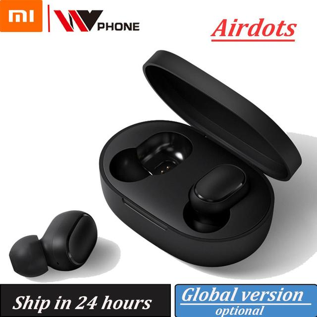 Xiaomi airdots Redmi Airdots TWS inalámbrica auricular con Control de voz Bluetooth 5,0 de reducción de ruido de Tap Control