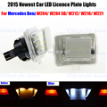 2 x LED Number License Plate Lamps OBC Error Free 18 LED For Mercedes Benz W204 W212 W216 W221