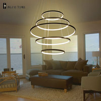 Modern LED Chandelier Circle Rings Home Led Chandelier Lighting For Dining Room Living room Bedroom Hanglamp Lighting Fixtures